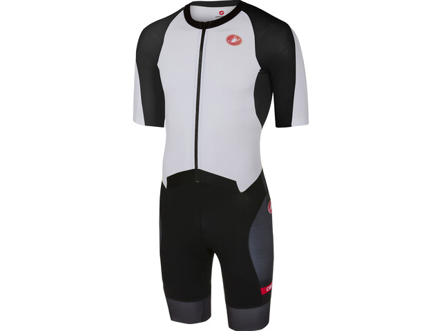 Castelli All Out Speed Suit Herrer, white/black